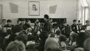 Ансамбль баянистов, рук. Н.П. Чернобай, 1965 год