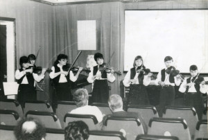 Ансамбль скрипачей, рук. Полякова И.В. Выступление в Доме ученых