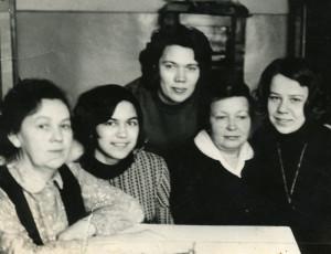 Сотрудники школы, 1971 год