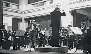 Концерт в Большом зале Новосибирской государственной филармонии. Солистка – Рукавицына Ирина (преп. Полякова И.В.), 1982 го